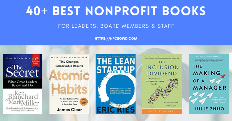 40+ Best Nonprofit Books for Leaders, Board Members, and Staff