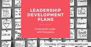 Nonprofit leadership development plans guide