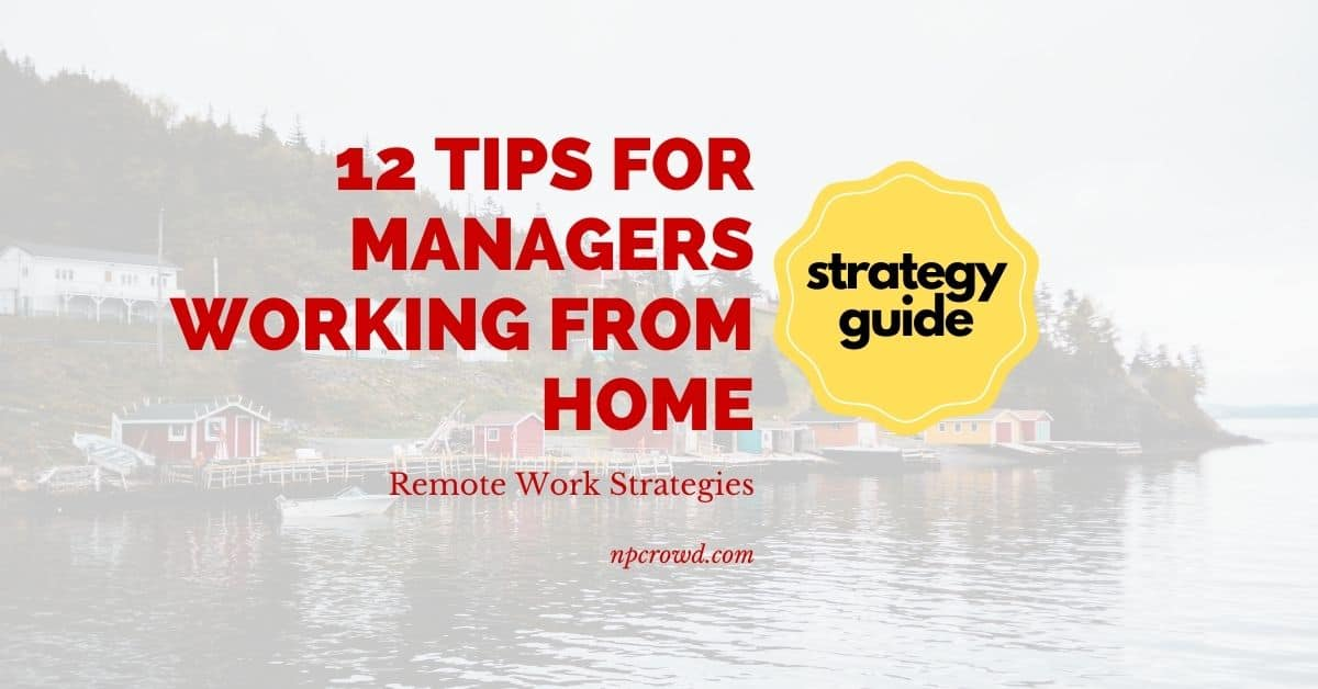 12 Tips for Managers Working from Home Remote Work Strategies