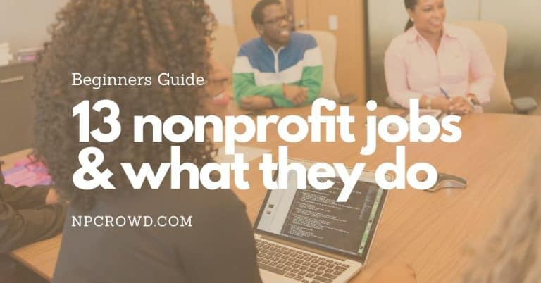 13 Most Common Paid Job Titles in Nonprofits and What They Do