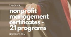 21+ Nonprofit Management Certificate Programs [Best List]
